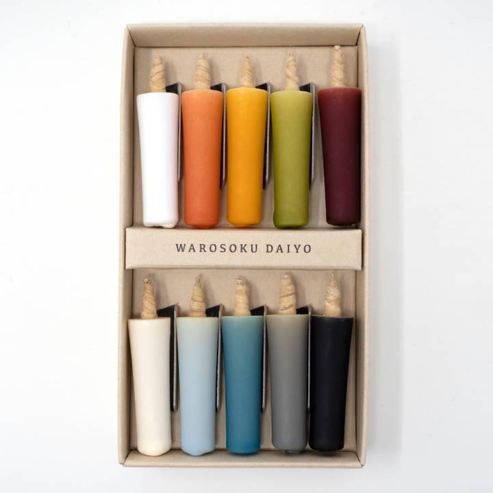 Image of Colourful Japanese Candle Set