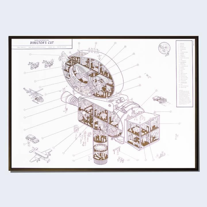 Image of Arriflex 35 IIC Cutaway Print
