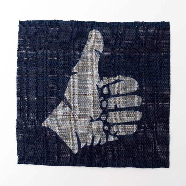 Image of BUAISOU Indigo Coaster: Thumbs Up