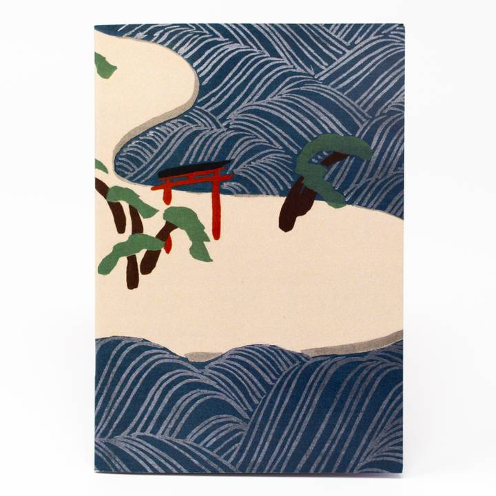 Image of Ocean Waves Illustrated Notebook