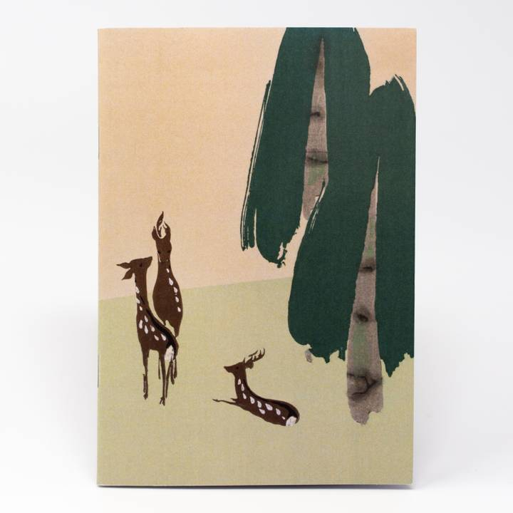Image of Deer and Bird Illustrated Notebook