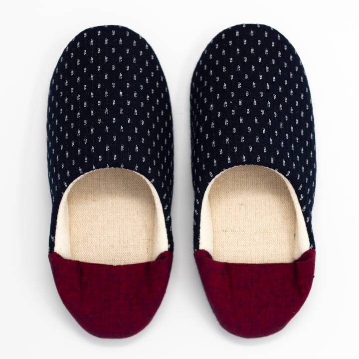 Image of Red Kasuri Babouche Slippers