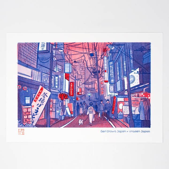 Image of Tokyo Risograph Print