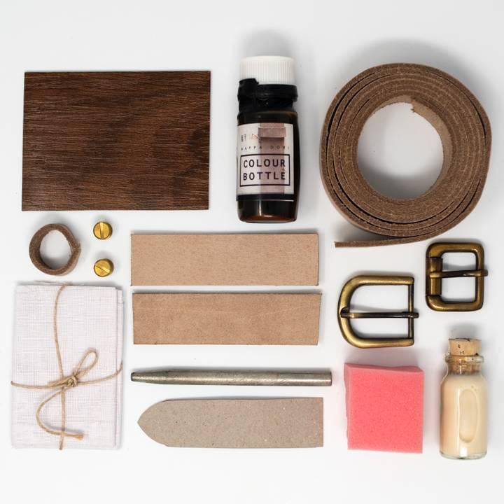 Image of DIY Tan Leather Belt Kit