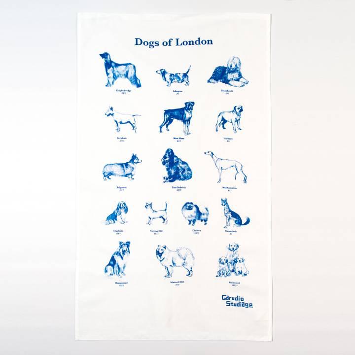Image of Dogs of London Tea Towel
