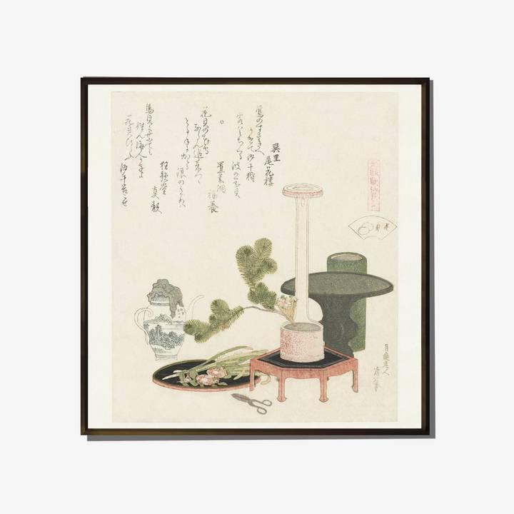 Image of Genroku Shell Print: Ikebana