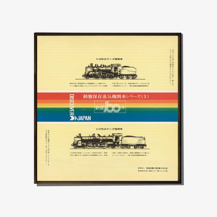 Image of Locomotive Vintage Advertising Poster: Yellow