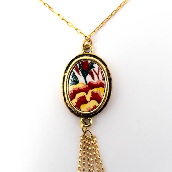 Image of Hana Gold Tassel Necklace