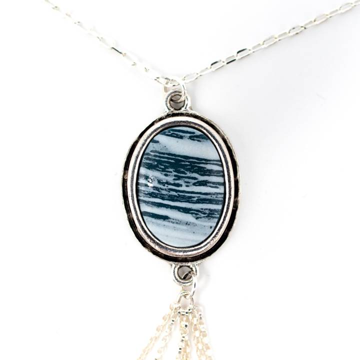 Image of Nami Silver Tassel Necklace