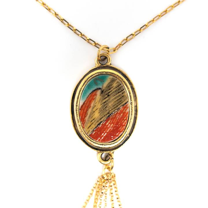 Image of Kaiga Gold Tassel Necklace