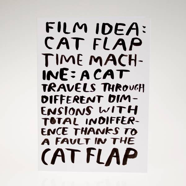 Image of Cat Flap Time Machine Greeting Card