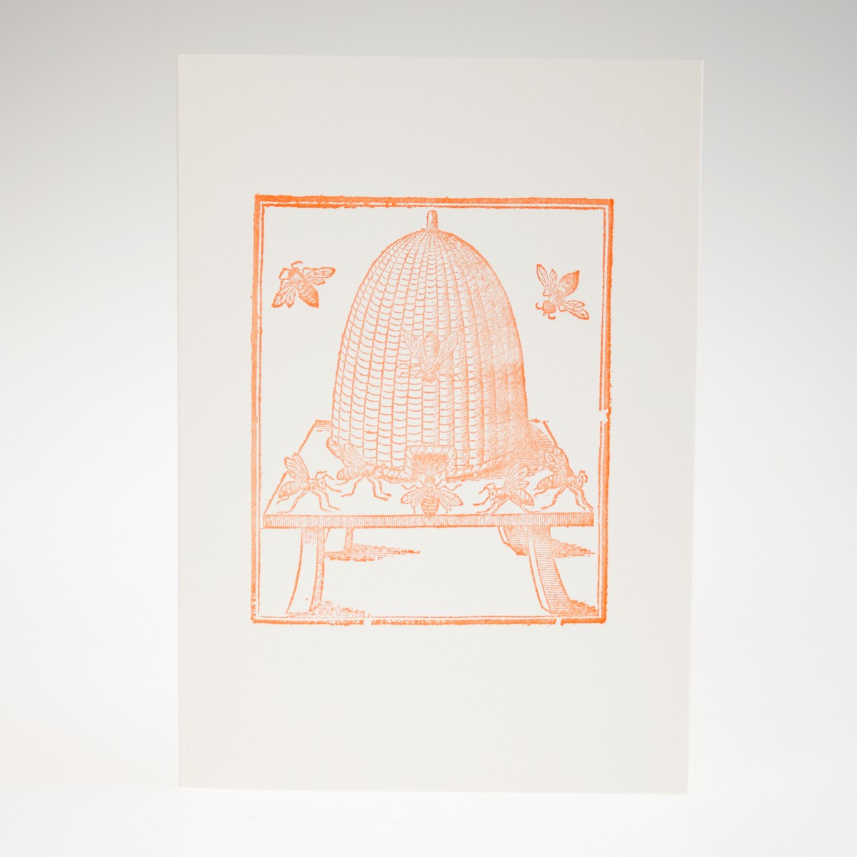 Photo of Ordering of Bees Letterpress Greeting Card