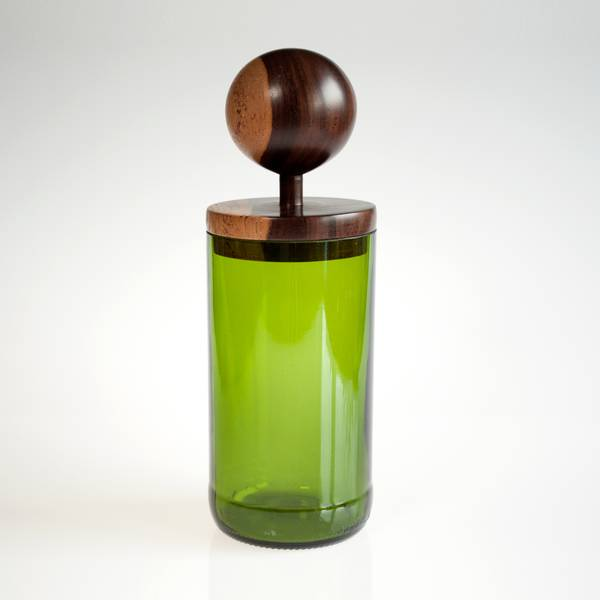 Image of Sphere Green MidMod Jar
