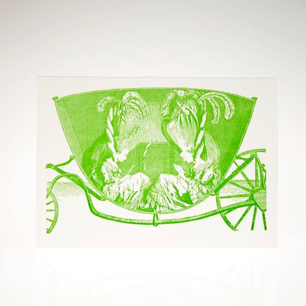 Image of Carriage Letterpress Greeting Card