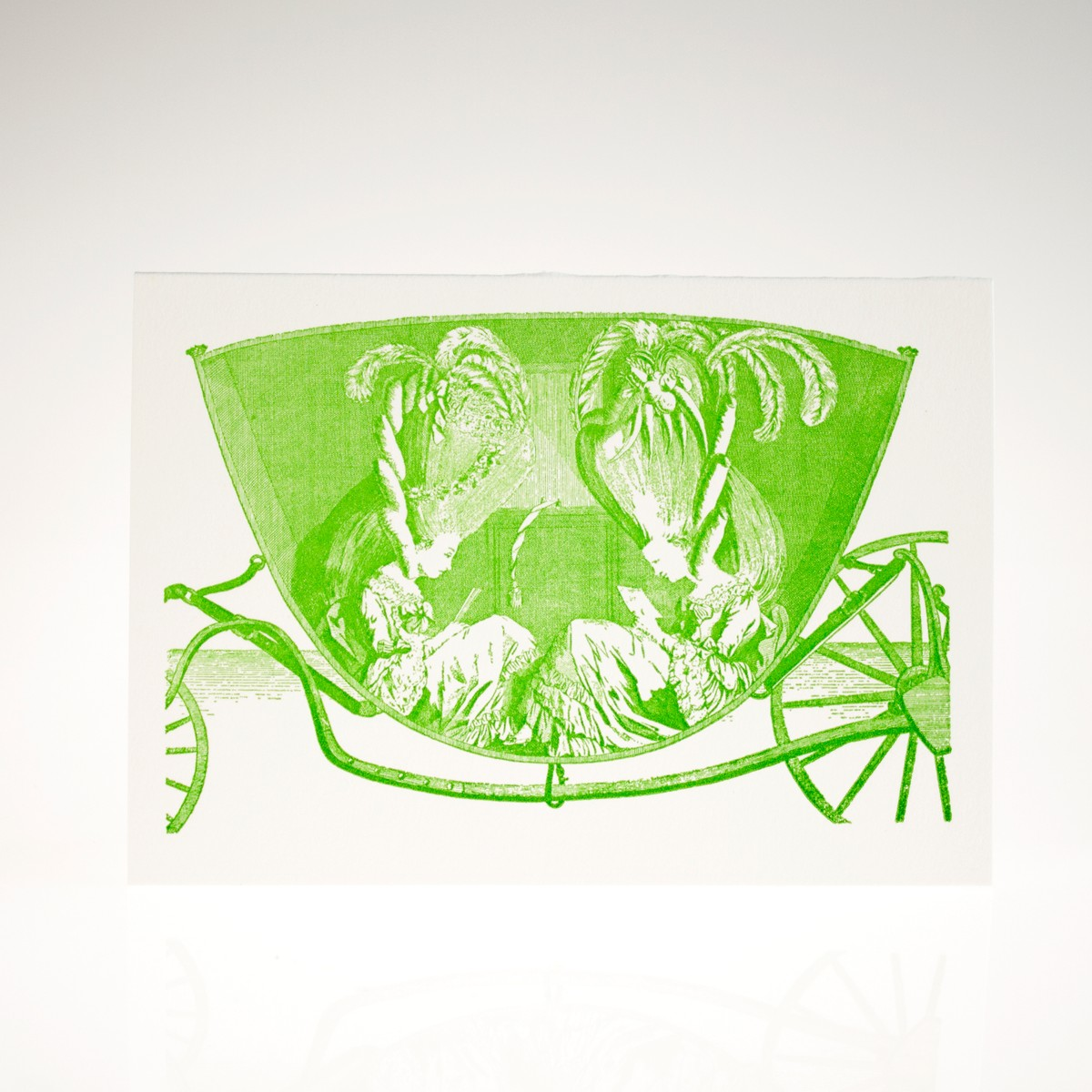 Photo of Carriage Letterpress Greeting Card