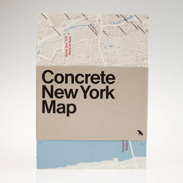 Image of Concrete New York Map