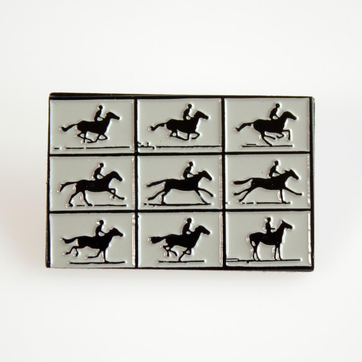 Photo of Muybridge Horse in Motion Enamel Pin