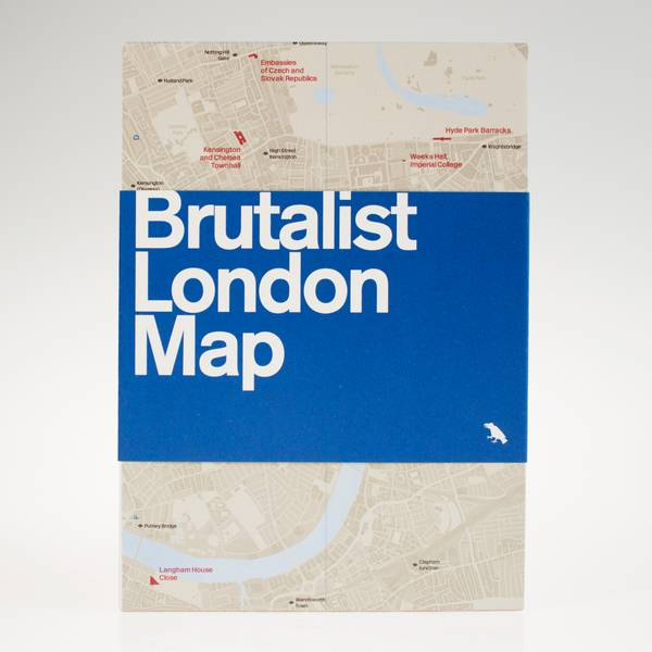 Image of Brutalist London Map
