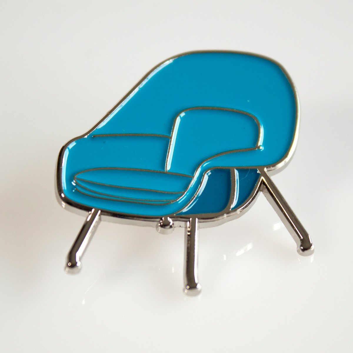 Photo of Blue Womb Chair Enamel Pin