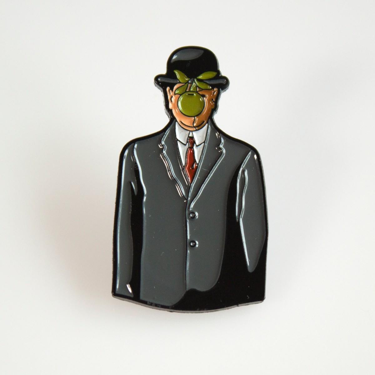 Photo of Magritte Son of Man Enamel Pin