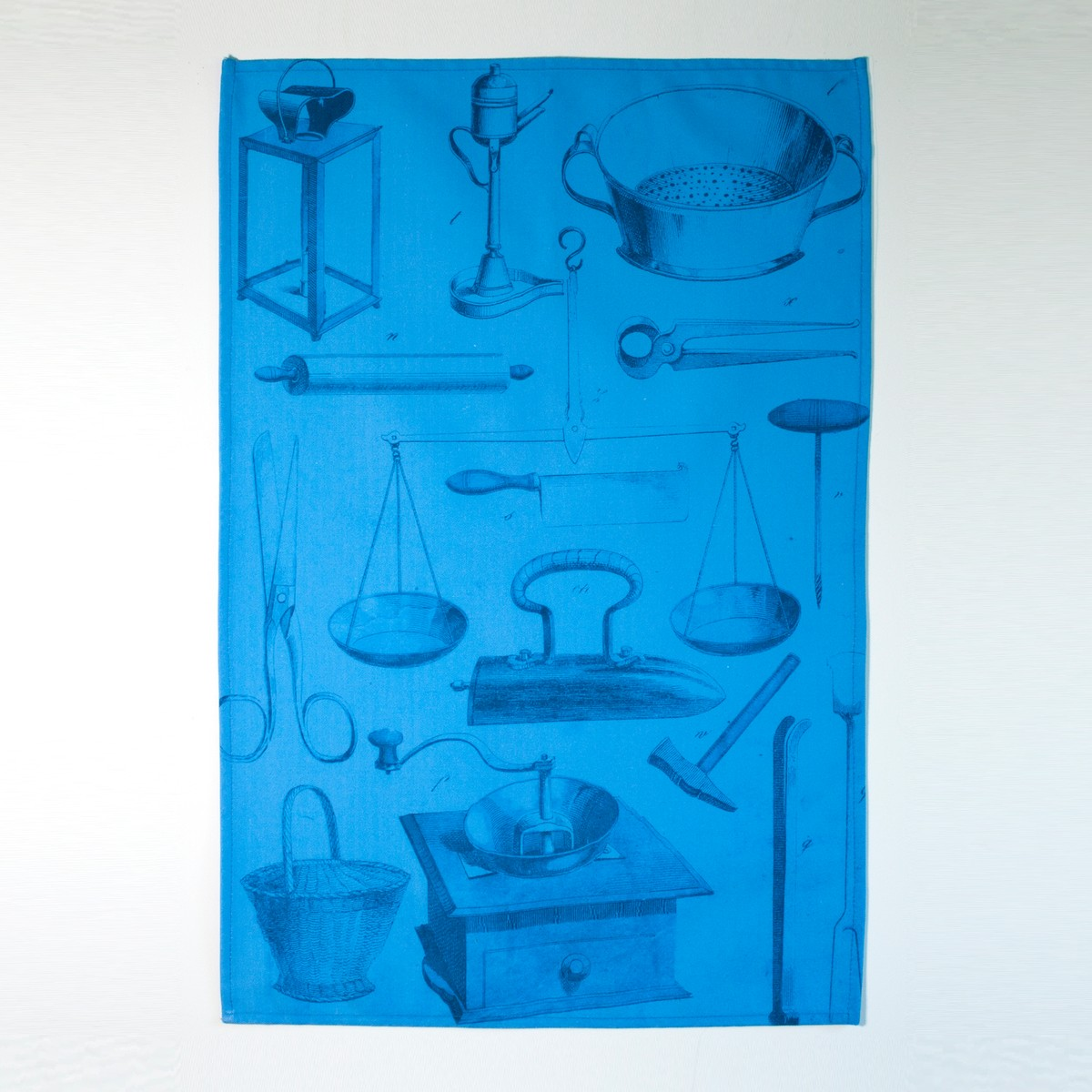 Photo of Blueprint Bookplate Tea Towel
