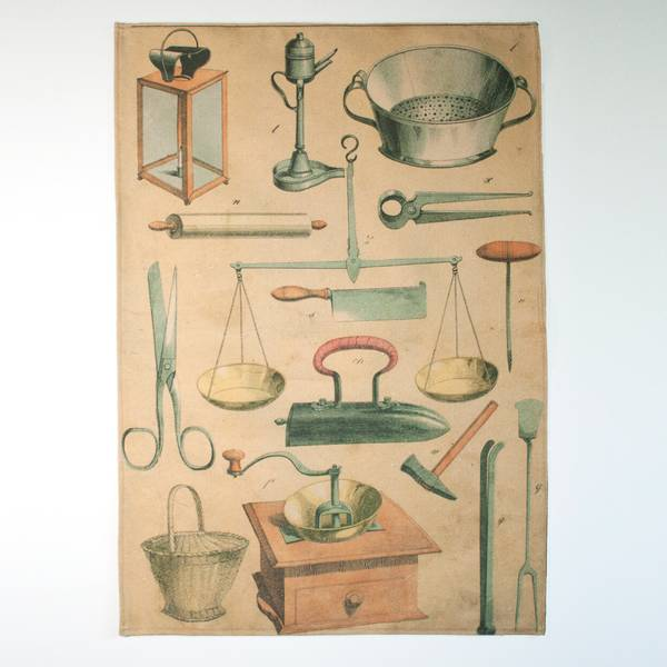Image of Kitchenware Bookplate Tea Towel