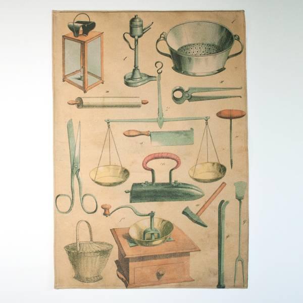 Image of Kitchenware Bookplate Tea Towel