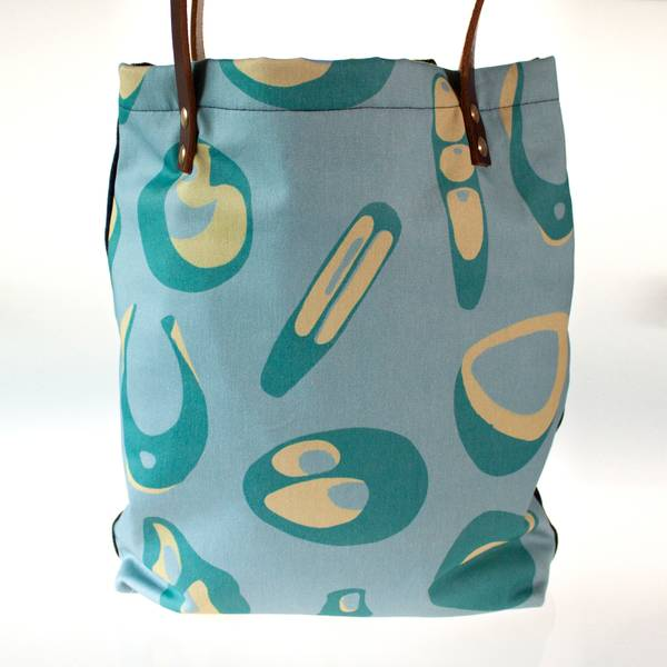 Image of Hepworth Tote Bag in Sea Blue