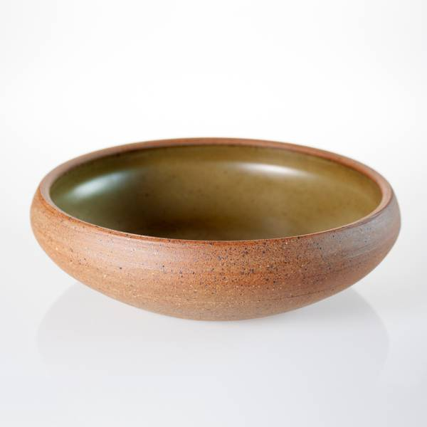 Image of Olive Green Serving Bowl