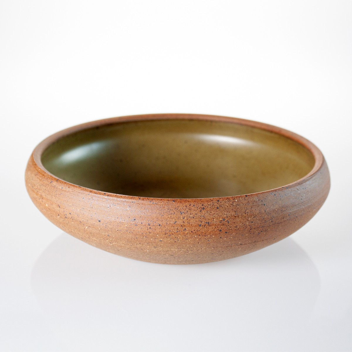 Photo of Olive Green Serving Bowl