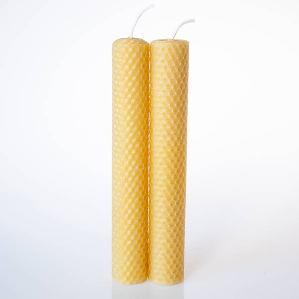 Image of Hand Rolled Beeswax Candles Large