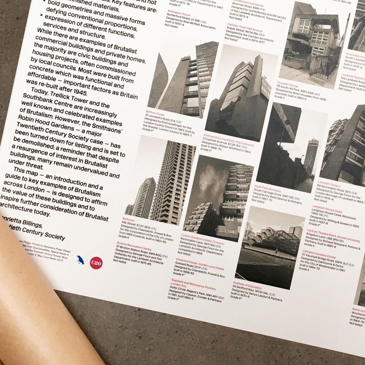 Photo of Brutalist London Map: Poster Edition