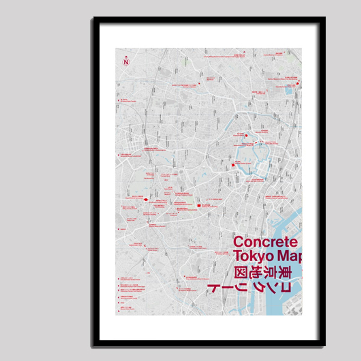 Photo of Concrete Tokyo Map: Poster Edition