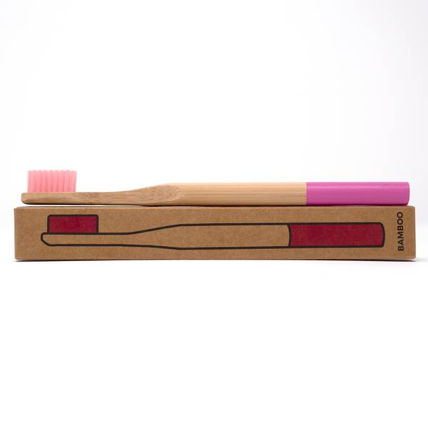 Image of Pastel Pink Bamboo Toothbrush