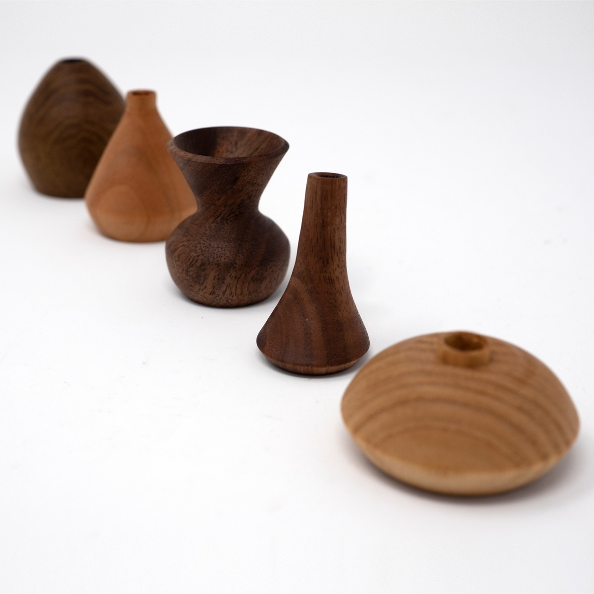 Photo of Miniature Wooden Vases: Lucie Rie Collection