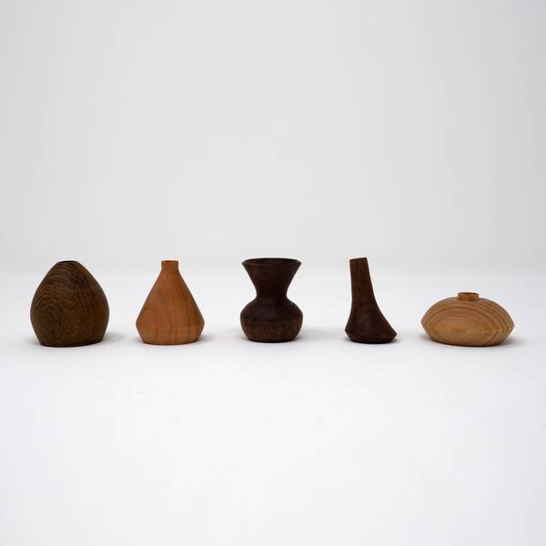Image of Miniature Wooden Vases: Lucie Rie Collection