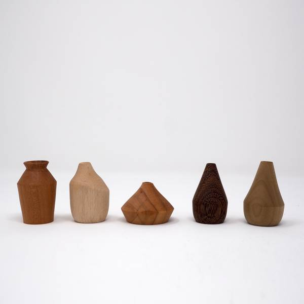 Image of Miniature Wooden Vases: George Nakashima Collection