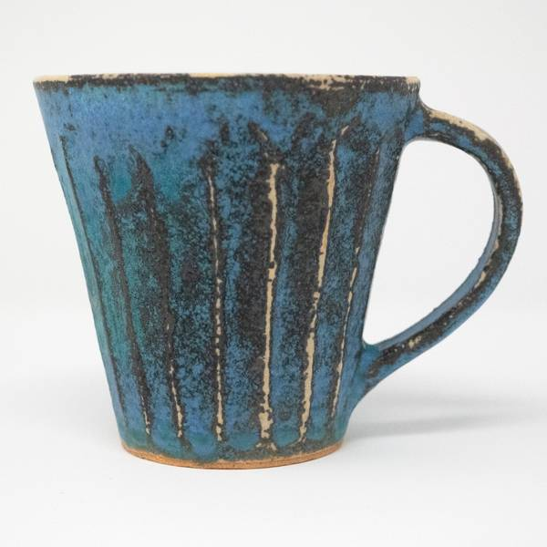 Image of Antique Blue Shinogi Mug