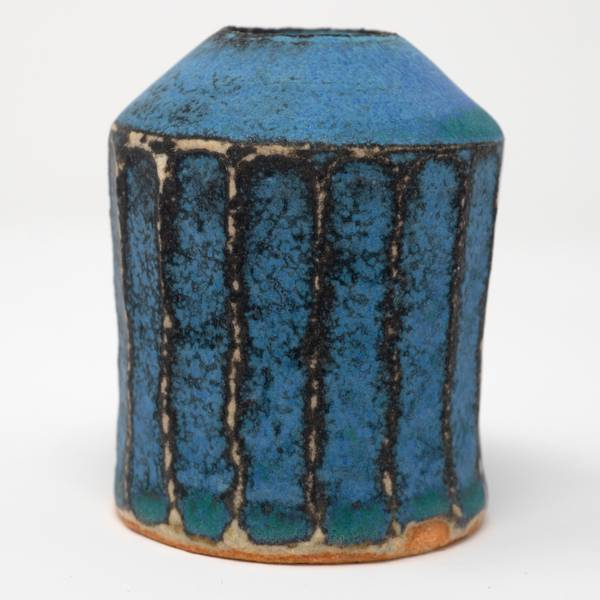 Image of Antique Blue Shinogi Bud Vase