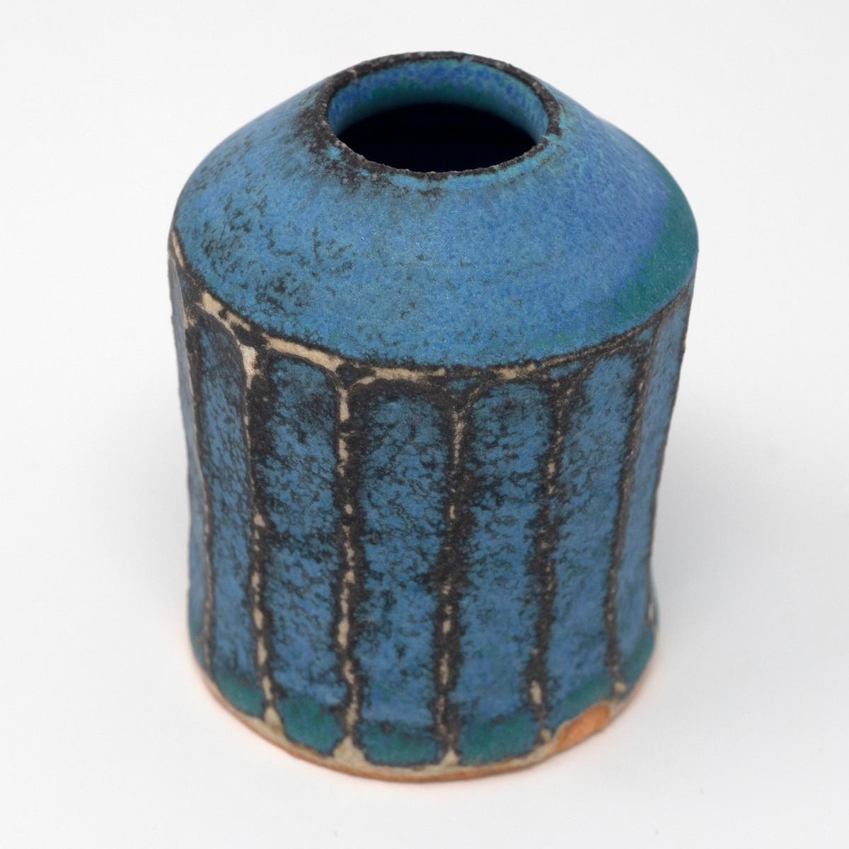 Photo of Antique Blue Shinogi Bud Vase