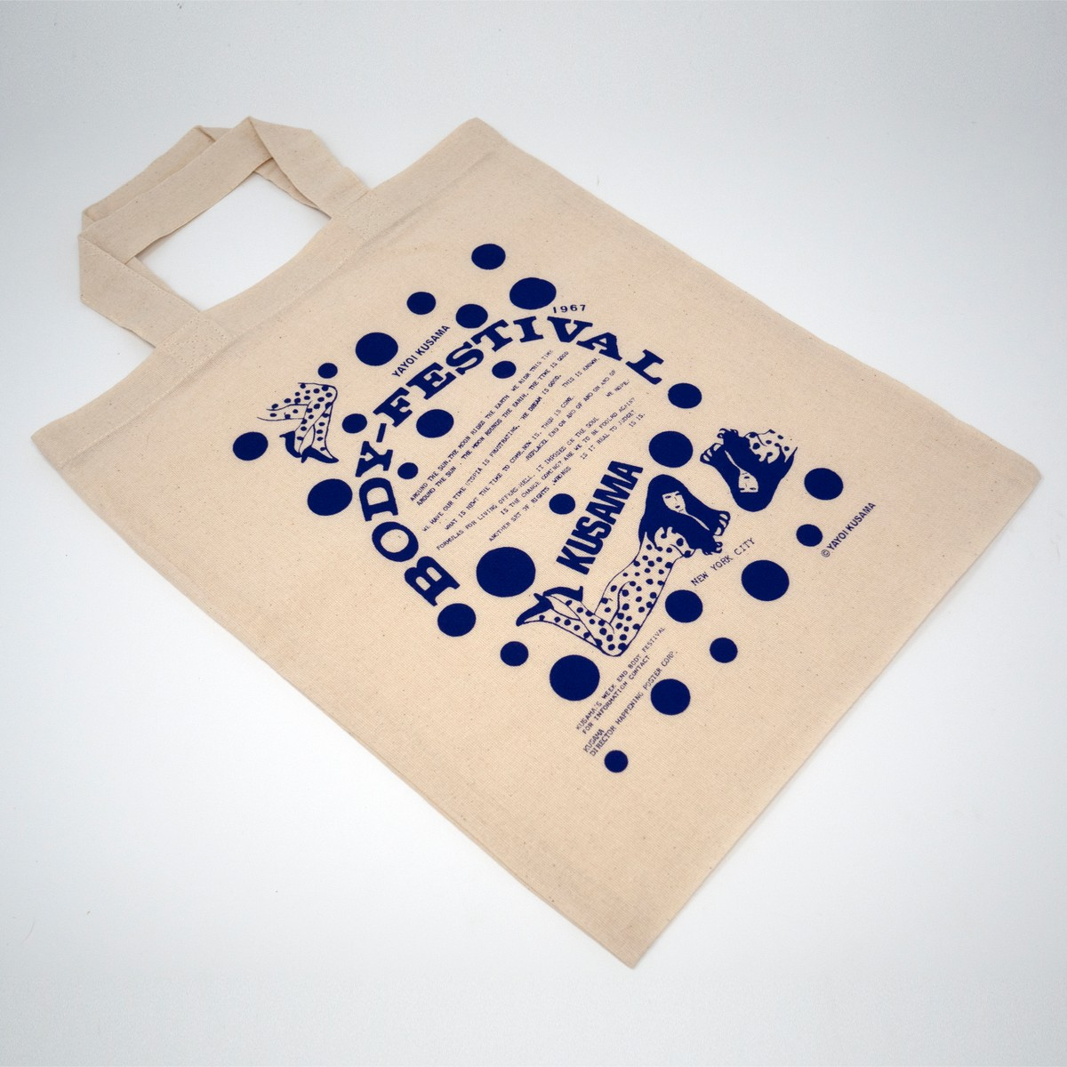 Photo of Yayoi Kusama Tote Bag Blue