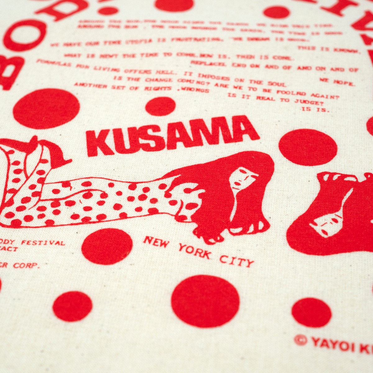 Photo of Yayoi Kusama Tote Bag Red