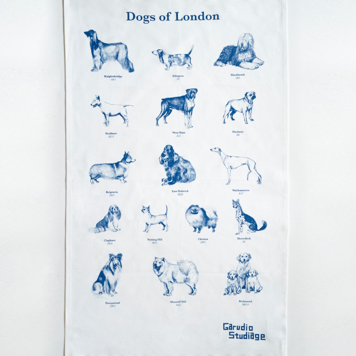 Photo of Dogs of London Tea Towel