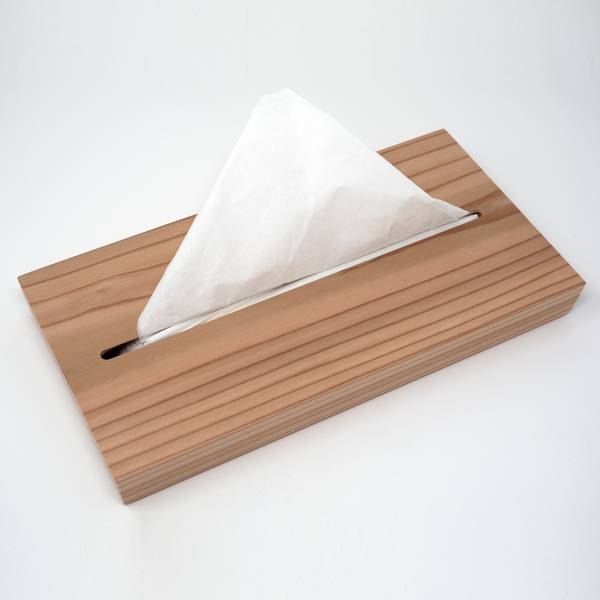 Image of Cedar Wood Tissue Box