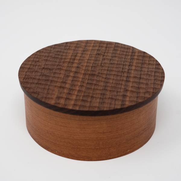 Image of Round Carved Shaker Box