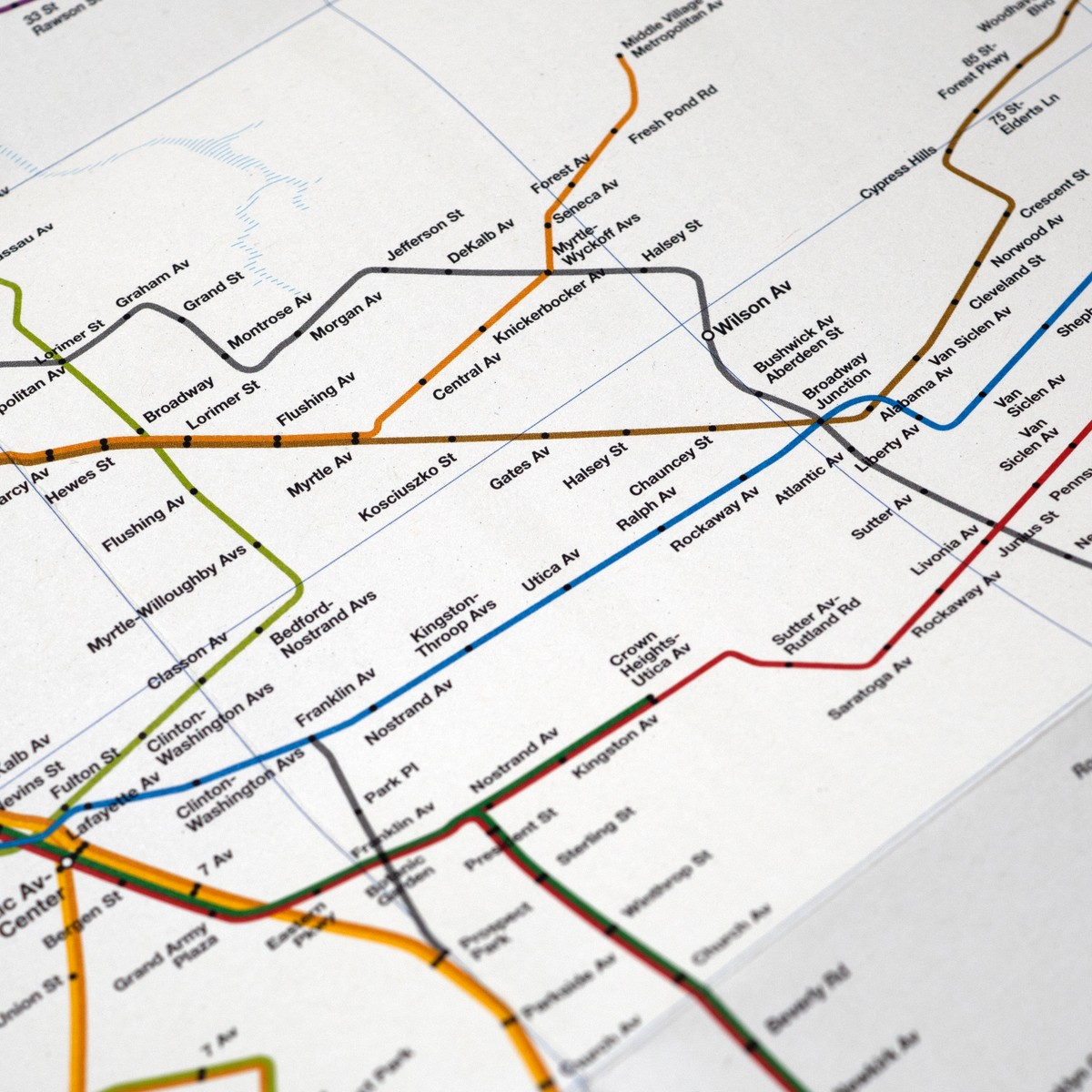 Photo of New York Subway Architecture Map