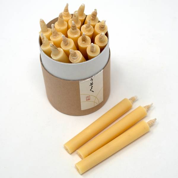 Image of Japanese Rice Wax Candle Set