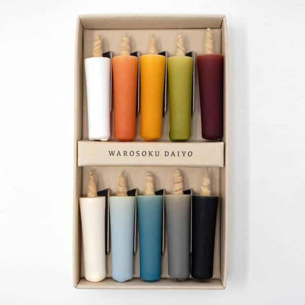 Image of Colourful Japanese Candle Set