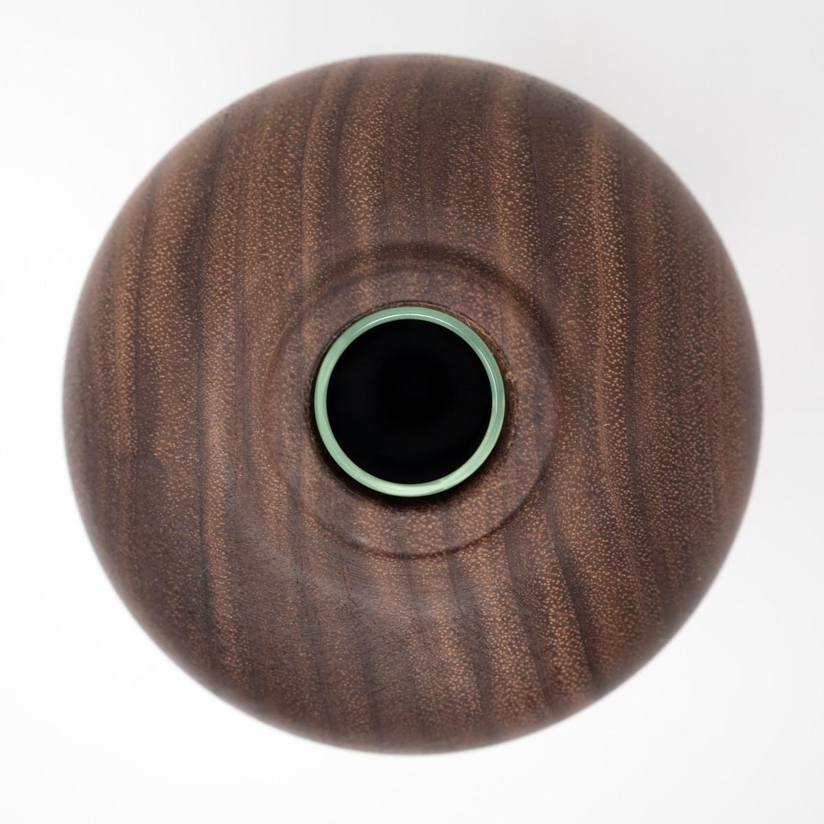 Photo of Hand Carved Walnut Vase