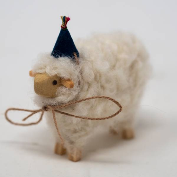 Image of Large Party Sheep Figurine